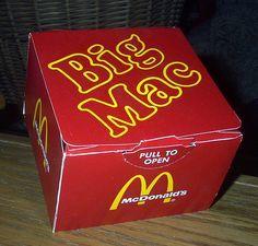 Vintage Big Mac box
