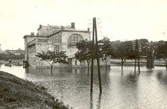 Kolín, městské lázně,povodně v roce 1926 Retro, Historia, Retro Illustration