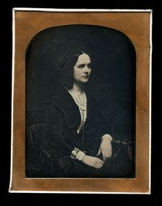 Quarter-plate daguerreotype of very pretty girl with amazing braided hair! No case and newer seals. Looks like there was an oval mat on it at one time. | eBay!