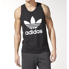 Begin every match or workout in comfort and style with our range of adidas men's shirts t shirts and polo shirts. Black Adidas, Adidas Men, Sneakers Adidas, Men's Shirts And Tops, Adidas Retro, Mens Fitness, Fitness Wear, Black Tank Tops, Adidas Originals
