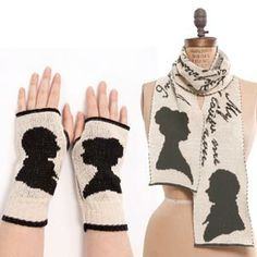 Pride And Prejudice Scarf & Hand Warmers