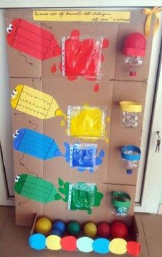 Pannello sensoriale: i colori. Sensorial panel: the colorsThis Pin was discovered by Dom Activities For 2 Year Olds, Toddler Learning Activities, Montessori Activities, Color Activities, Infant Activities, Montessori Materials, Kids Crafts, Preschool Crafts, Baby Sensory Play