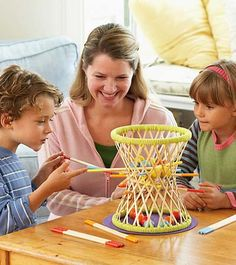 Hape International Pallina Bamboo Stick Game for Two to Four Players