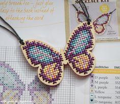 CrossStitcher №282 август 2014, подвеска бабочка, вышивка крестом, вышивка по дереву, Angela Poole