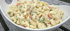 This Party Macaroni Salad recipe makes a great side dish for any summer barbecue or picnic. Make it in advance and refrigerate it for at least two hours. New Recipes, Salad Recipes, Cooking Recipes, Favorite Recipes, Party Recipes, Recipies, Noodle Recipes, Soup And Salad, Pasta Salad