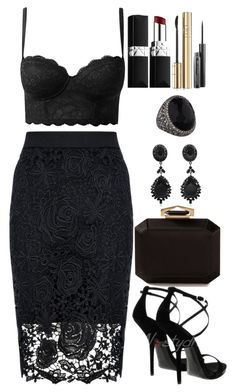 A fashion look from July 2015 featuring lace bodycon skirt, intimissimi bra and kohl shoes. Browse and shop related looks. Cute Casual Outfits, Sexy Outfits, Stylish Outfits, Fashion Outfits, Womens Fashion, Mein Style, Looks Chic, Night Outfits, Polyvore Outfits