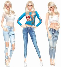 Skinny Jeans Collection at Leeloo • Sims 4 Updates