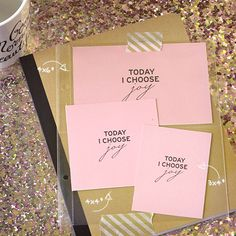 """Free printable pocket card project life. """"Today I choose joy."""" #quote #projectlife #pocketstyle #lifeinpictures"""