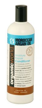 £2.99 - Moroccan Argan Oil Moisture Repair Conditioner 500ml Argan oil is an exotic oil from Morocco that is particulary rich in nourishing vitamin E and anti-oxidants that has been used for centuries by Berber woman to achieve beautiful, healthy hair.