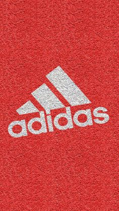 Bright Red Texture Adidas Logo iPhone Wallpaper