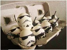 Egg-Troopers! @Aimee Lewis you can now officially celebrate Easter and Aiden's bday at the same time.