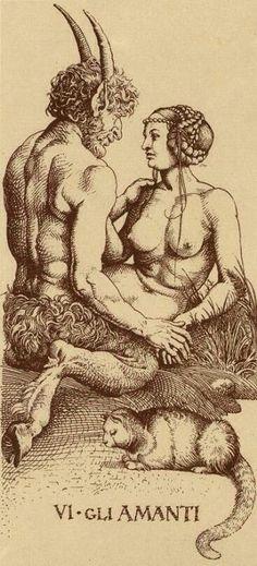 Os Amantes - Tarot de Durer