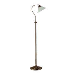 FLOOR - stojanová lampa - antická mosadz + scavo sklo cena  87,80e