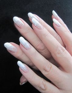My natural white gradient nails. www.funkyandfifty.blogspot.fi