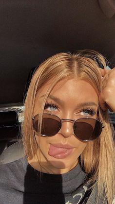 Fun Hair Styles Mirrored Sunglasses, Sunglasses Women, Hair Dos, Pilot, Face, Instagram Ideas, Beauty Makeup, Aviation, Fashion