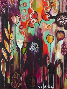 gaga over this artist.  Flora Bowley  sigh... i should start painting again...