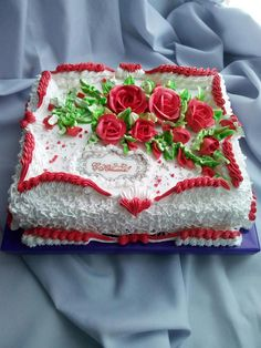 Vintage Cakes, Sheet Cakes, Buttercream Cake, Cakes And More, Beautiful Cakes, Cake Decorating, Cheesecake, Birthday Cake, Unique