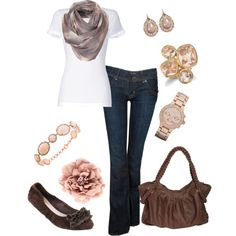 Love brown and rose together