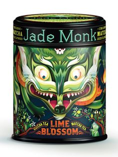Moxie Sozo designed this matcha green tea packaging. This is another creation (design & illustration) by their amazing Senior Art Director Charles Bloom