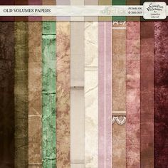 The Digichick :: Paper Packs :: Old Volumes Papers