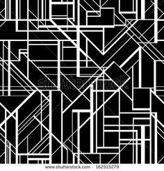 Art deco style vector geometric pattern. by Anastasia Mazeina, via ShutterStock
