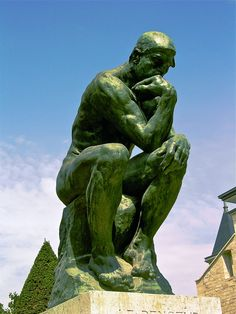 """""""The Thinker"""" (Le Penseur in French) is a bronze and marble sculpture by Auguste Rodin, whose first cast, of is now in the Musée Rodin in Paris. It is often used to represent philosophy. Auguste Rodin, Camille Claudel, Bronze Sculpture, Sculpture Art, Metal Sculptures, Abstract Sculpture, Famous Sculptures, Statues, Rodin The Thinker"""