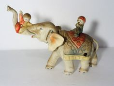 Vintage Wind Up Celluloid Circus Elephant Toy #Unbranded