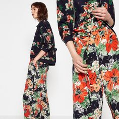 Fresh Florals  #florals #trends From head to toe #bomber Ref 2493/225 #top Ref 2919/225 #trousers Ref 2572/224 by zara