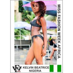 Here is a swimwear submission for the Miss Fashion Week Africa contest by  Beatrice Kelvin from Nigeria  If you are yet to complete your profile  you still have to the 28th to do so. However please take note of the below submissions that you need to make in order  to avoid delays : 1. Two (2) Head-shot Photos (Front and Side View) 2. Two (2) Full-Length Photos (Front and Side View) 3. One (1) Swimwear photos 4. Scanned copy of valid international passport  5. Interview Video that is not more…