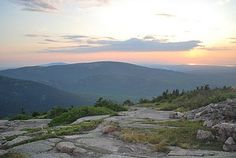 Sunset at Cadillac Mountain in Bar Harbor, ME.