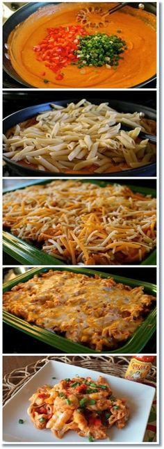 Cheesy Chicken Enchilada Pasta ~ Allrecipecenter