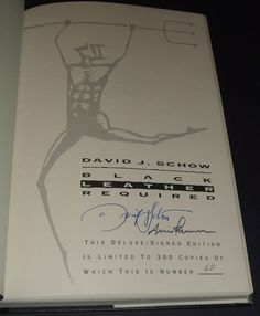 1994 Signed limited edition of Black Leather Required Stories by David Schow