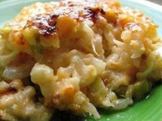 Loaded Cauliflower Casserole Great for Low Carbers - Just like mac and cheese without the pasta 2 lbs cauliflower florets 8 oz shre...