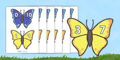 Number Bonds to 10 Matching Cards (Butterflies)