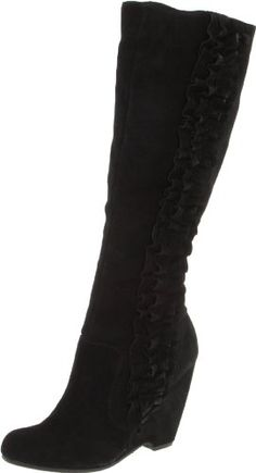 MIA Women's Giovanna Knee-High Boot,Black Wish I would have bought these...