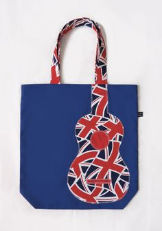 Union Jack ukulele tote bag in red, white and blue