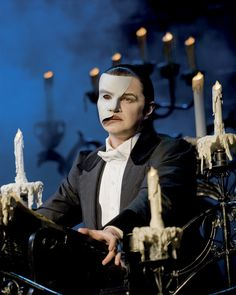 Geronimo Rauch as The Phantom in Phantom of the Opera. Photo by Johan Persson
