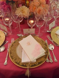 The Chinese State Dinner Tablesetting