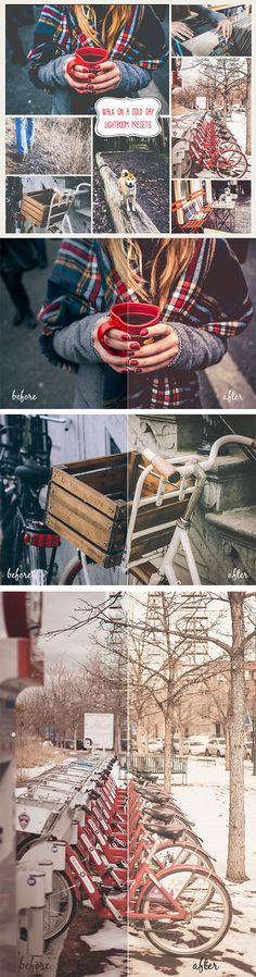 """20 """"Walk on a cold day"""" Lightroom Presets - Landscape #Lightroom #Presets"""