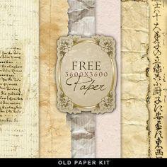 Nuevo Kit Freebies Documentos antiguos