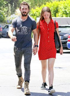 Shia LaBeouf and his girlfriend Mia Goth hold hands in L.A.
