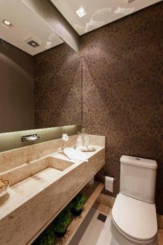 Prateleira com plantas no banheiro. Ótima ideia!  Casa e Decoração - UOL Mulher