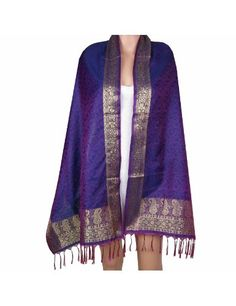 Long foulard violet et or motifs Paisley - Accessoire de mode indienne style Bollywood - Idée cadeau de noël femmes 50 x 182 Cm: Amazon.fr: Vêtements et accessoires