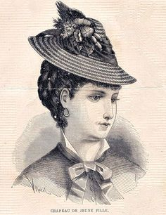 French Victorian Hat