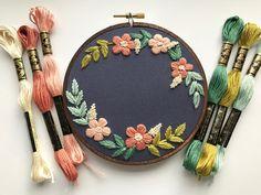 Embroidery Kit Design Beginner Kit Hoop Art Personalized   Etsy