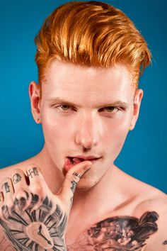 "A new NYC art exhibit called RED HOT aims to ""rebrand the ginger male stereotype.""...yes! Red Power ;)"