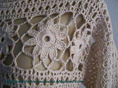 flores em croche para blusas - Pesquisa Google
