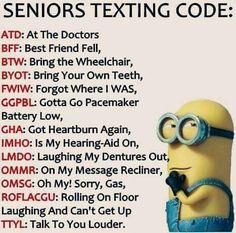 Minion - Seniors texting code