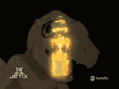 Veemon digivolving into flamedramon.