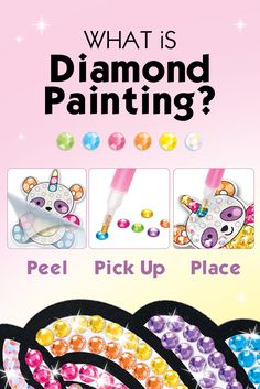 What is Diamond Painting? Gem Diamonds, Paint By Number, Painting For Kids, Craft Kits, Mosaic Art, Your Child, Routine, Sparkle, Joy
